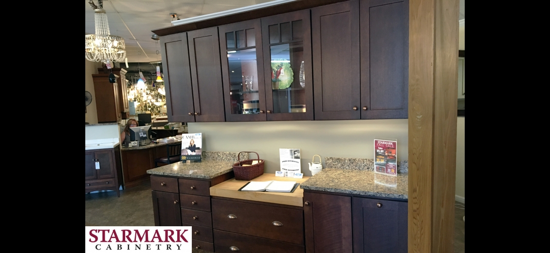 StarMark Cabinetry kitchen display at Canandaigua HEP Sales/North Main Lumber, 2567 Rochester Road