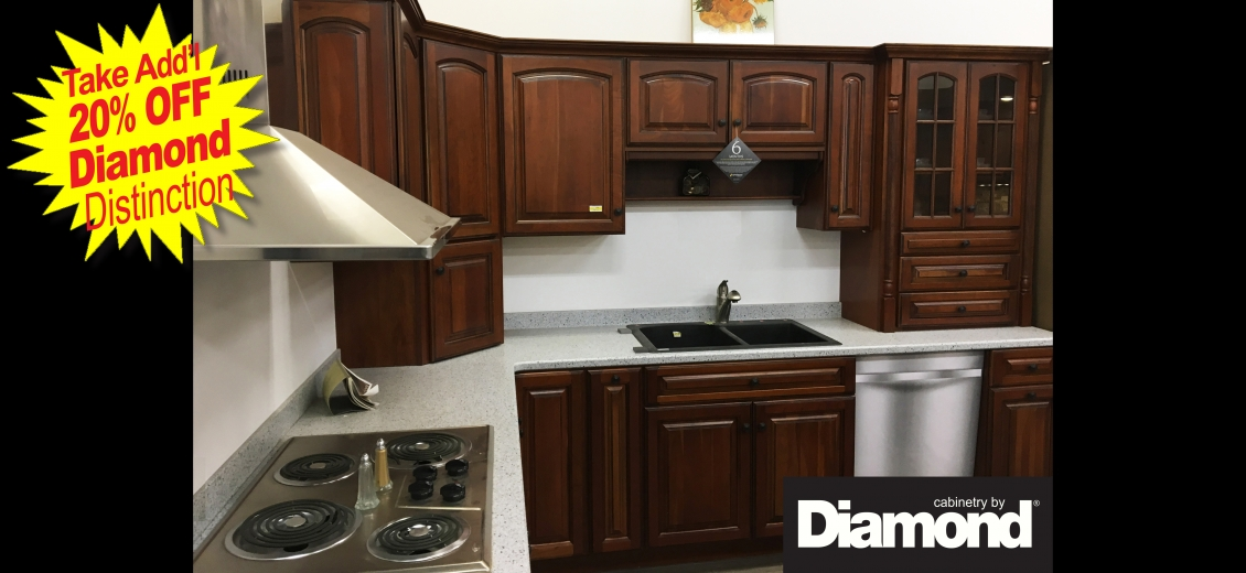 Diamond Distinction kitchen display at Elmira HEP Sales, 2400 Corning Road
