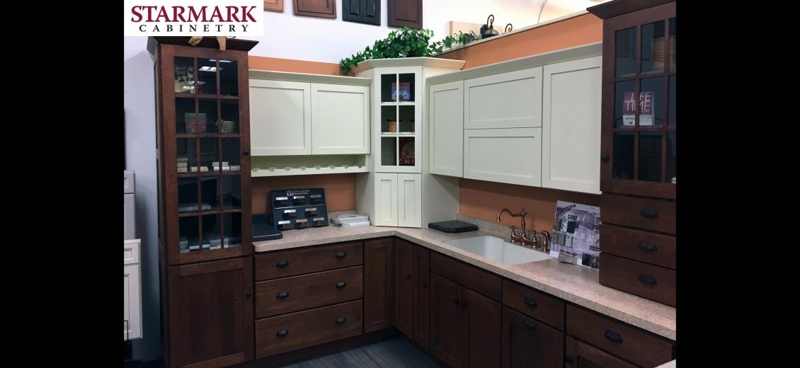 StarMark Cabinetry kitchen display at Elmira HEP Sales, 2400 Corning Road