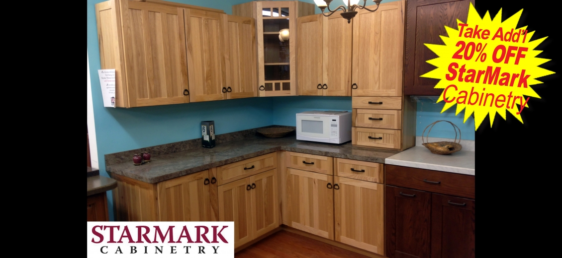StarMark Cabinetry kitchen display at Penn Yan HEP Sales, 125 East Elm Street
