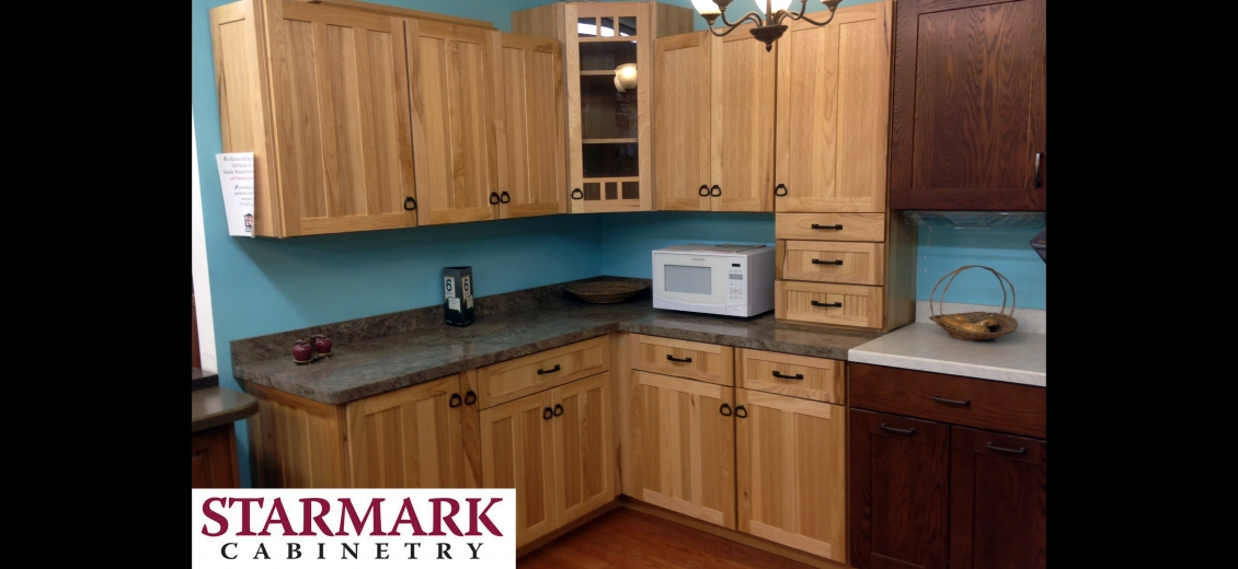 StarMark Cabinetry kitchen display at Penn Yan HEP Sales, 125 East Elm Street