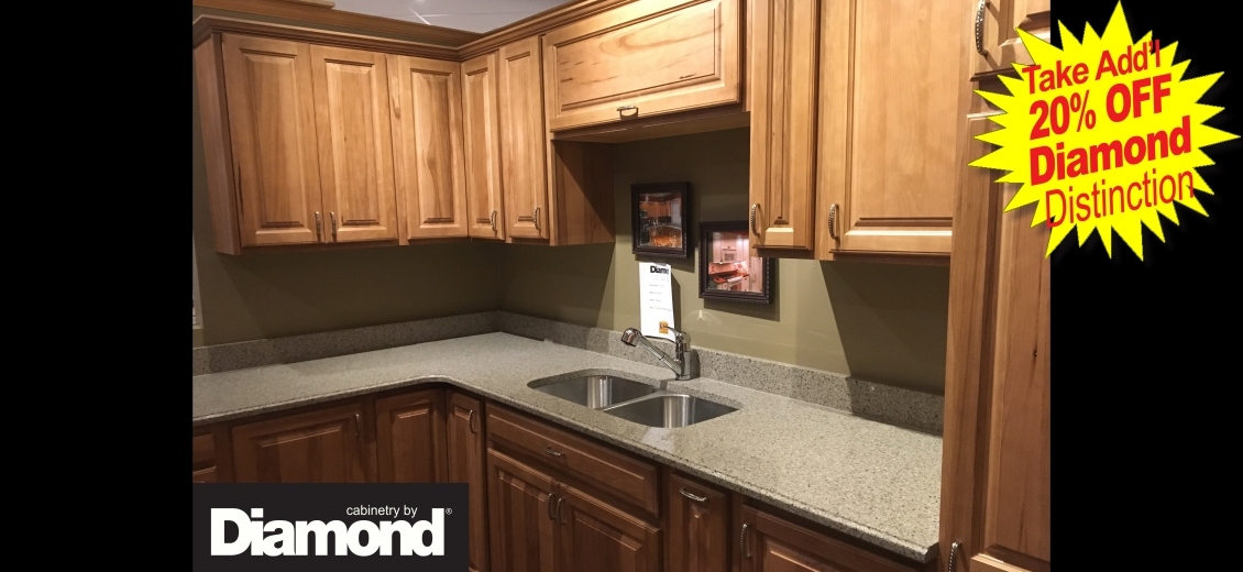 Diamond Distinction kitchen display at Hornell North Main Lumber, 1080 West Main Street