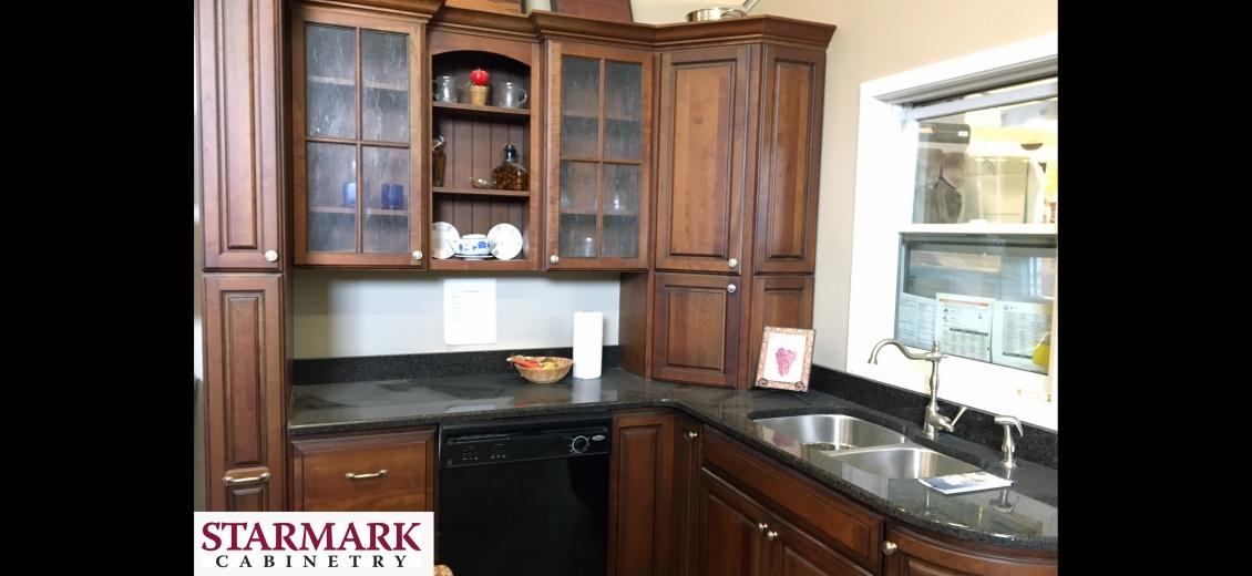 StarMark Cabinetry kitchen display at Cortland HEP Sales/North Main Lumber, 797 Route 13