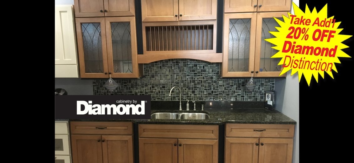 Diamond Distinction kitchen display at Ithaca HEP Sales, 12 Utility Drive