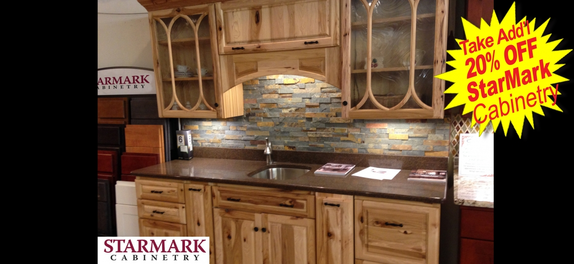 StarMark Cabinetry display at Ithaca HEP Sales, 12 Utility Drive
