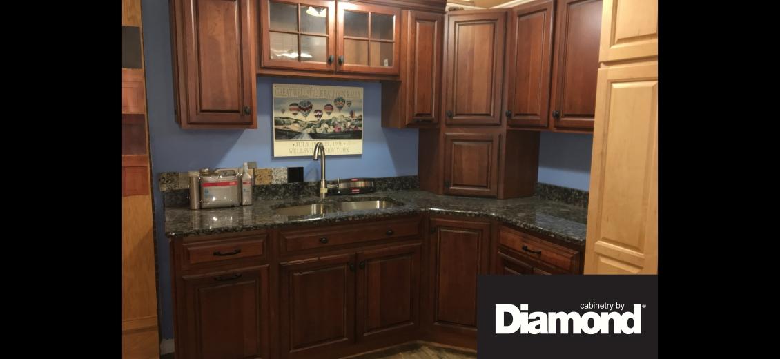 Diamond Distinction kitchen display at Sayre HEP Sales, 507 North Keystone Avenue