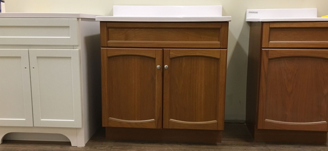 Compact bath 2-door vanities